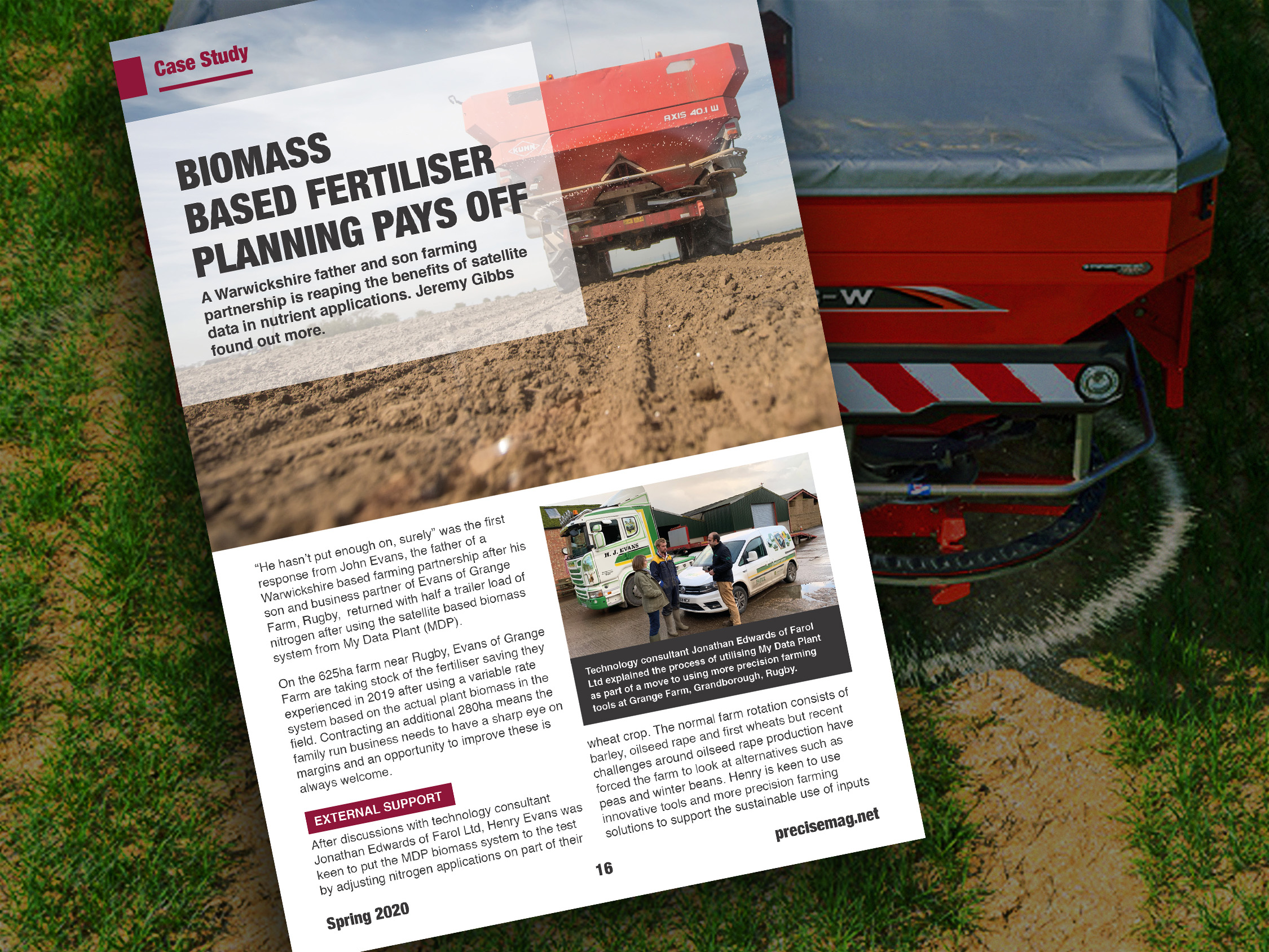 100 tons of nitrogen saved using My Data Plant: A split farm trial in the Precise Magazine (UK)